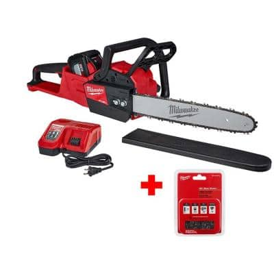 M18 FUEL 16 in. 18-Volt Lithium-Ion Battery Brushless Cordless Chainsaw Kit with 12.0Ah Battery, 16 in. Hand Chainsaw