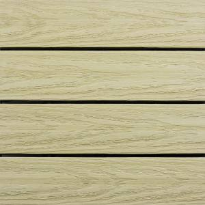 UltraShield Naturale 1 ft. x 1 ft. Quick Deck Outdoor Composite Deck Tile Sample in Sahara Sand