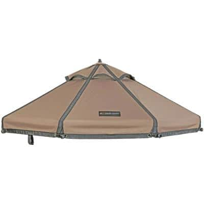 Earth Taupe Polyester Canopy for 4 ft. Pet Gazebo