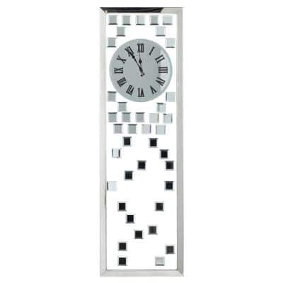 Silver Stainless Steel Glam Wall Clock