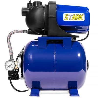 1.6 HP Pressurized Garden Water Booster Pump with Tank and Automatic Booster System - 1 in. Hose Fitting