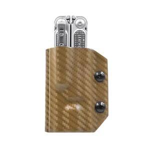Kydex Multitool Sheath for Leatherman Free P4 Multi-Tool Holder Belt Holster Cover EDC (Carbon Fiber Tan)