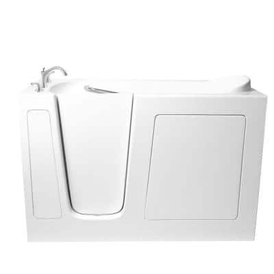 4 ft. Walk-In Left Hand Bathtub in White