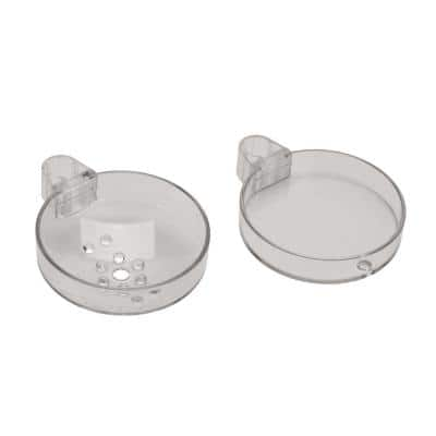 Cassetta S Double Soap Dish for Unica's Wall Bar in Transparent