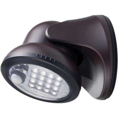 600 LumensBronze Motion Activated Integrated LED Outdoor Wireless Flood Light