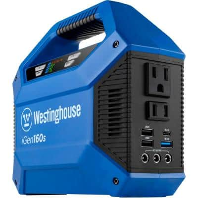 iGen160s 100/150-Watt Lithium-Ion Portable Power Station with Power Inverter, LED Display, and Flashlight