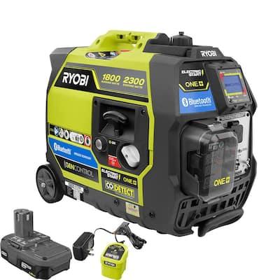 Bluetooth 2,300-Watt Starting ONE+ 18-Volt Electric Start Gasoline Powered Digital Inverter Generator