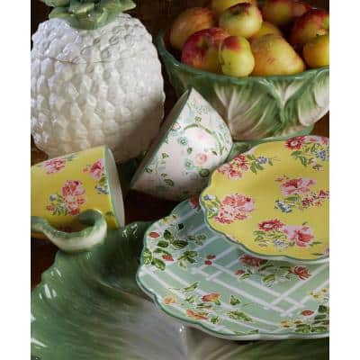 72 oz. English Garden 3-D Multicolored Cookie Jar