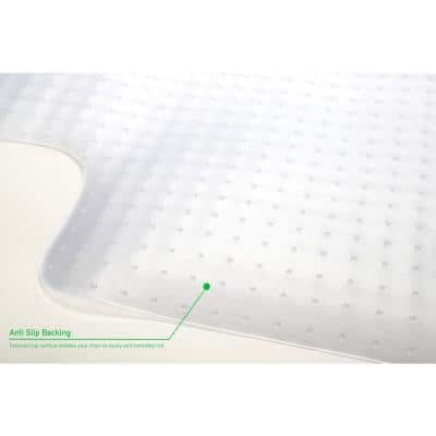 Clear 36 in. x 48 in. Plastic Anti-Skid Office Chair Mat