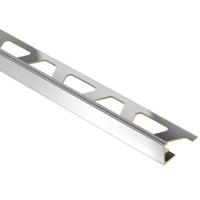 Jolly Chrome-Plated Solid Brass 3/8 in. x 8 ft. 2-1/2 in. Metal Tile Edging Trim