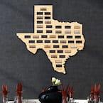 21 in. x 20 in. Wooden Texas Wine Cork Map