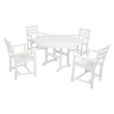 Monterey Bay Classic White 5-Piece Plastic Outdoor Patio Dining Set