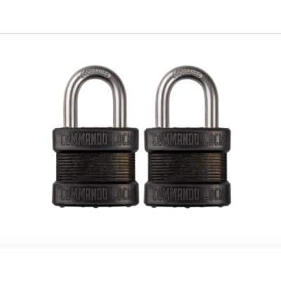 Blackout High Security 1-3/4 in. Keyed Padlock Outdoor Weather Resistant Military-Grade W 1-1/8in. Shackle (2-Pack)