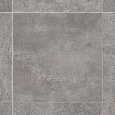 Take Home Sample - Lonney Grey Residential Sheet Vinyl Flooring - 6 in. x 9 in.