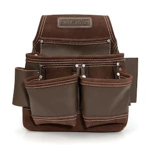 9-Pocket Full Leather Framer's Tool Belt Pouch