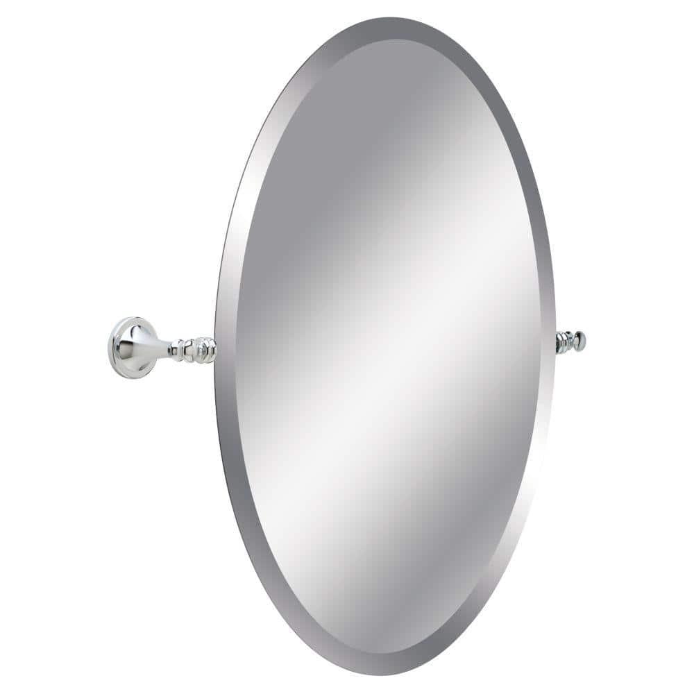 Delta Silverton 26 In H X 22 In W Single Wall Mirror In Chrome 132892 The Home Depot