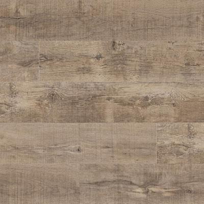 Take Home Sample - Woodland Rustic Pecan Rigid Core Luxury Vinyl Plank Flooring 7 in. x 12 in.