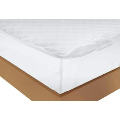 Polyester Vinyl Free King Ultimate Protection and Comfort Waterproof Bed Bug Antimicrobial Zippered Mattress Protector