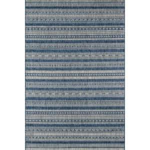 Tuscany Blue 3 ft. 3 in. x 5 ft. Indoor/Outdoor Area Rug