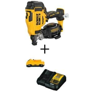 20-Volt MAX Cordless Roofing Nailer with Bonus 3.0Ah Battery Pack with Charger