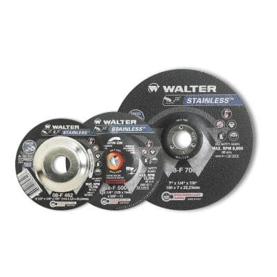 Stainless 4.5 in. x 5/8-11 in. Arbor x 1/8 in. T27S A-30-SS Combo Grinding Wheel for Stainless (10-Pack)