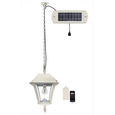 Baytown II Bulb White Solar Integrated LED Hanging Light with Remote Control