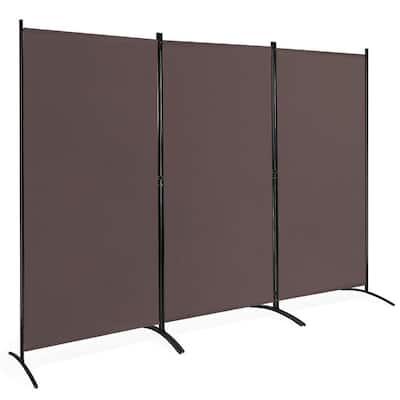 6 ft. Brown 3-Panel Room Divider