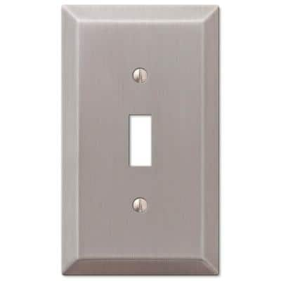 Metallic 1 Gang Toggle Steel Wall Plate - Brushed Nickel