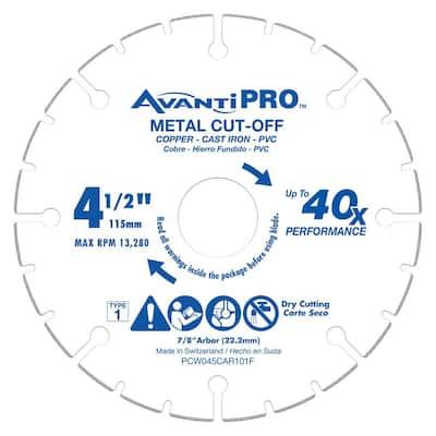 AvantiPRO 4-1/2 in. Carbide Wheel Metal Cutting