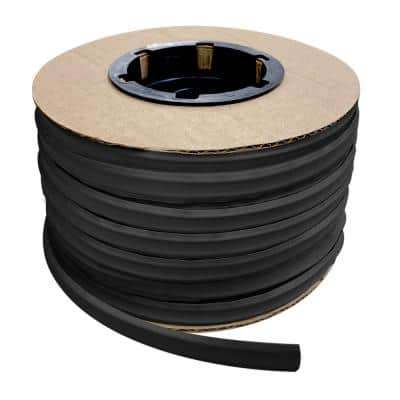 1/2 in. x 100 ft. Black PVC Inside Corner Self-Adhesive Flexible Caulk and Trim Molding