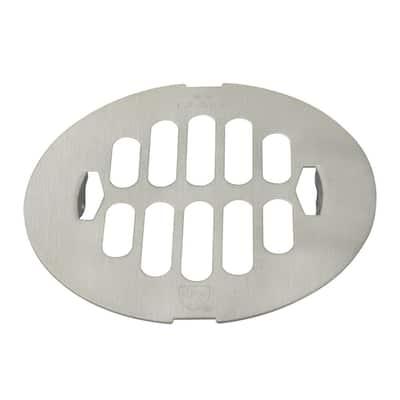 4-1/4 in. O.D. Snap-In Shower Drain Strainer in Satin Nickel