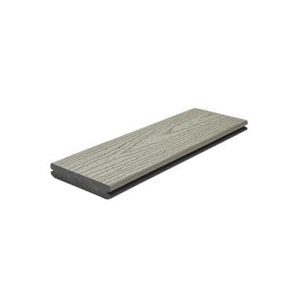 Transcend 1 in. x 5.5 in. x 1 ft. Gravel Path Composite Decking Board Sample (Model # GPT92000 )