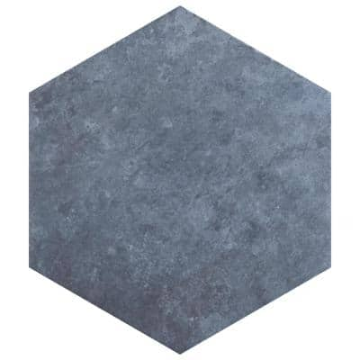 Heritage Hex Indigo 7 in. x 8 in. Porcelain Floor and Wall Tile (7.67 sq. ft./Case)
