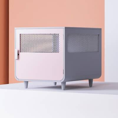 Radius Medium Chablis Pink Wooden Dog Crate