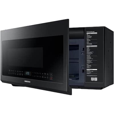 30 in. 2.1 cu. ft. Over the Range Microwave in Fingerprint Resistant Black Stainless with Ceramic Enamel Interior