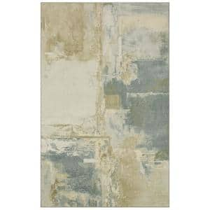 Fusion Neutral 6 ft. x 9 ft. Abstract Area Rug