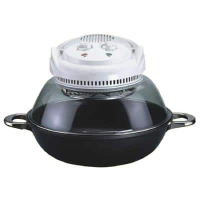 1200 W Wok and Convection Countertop Oven with Built-In Timer