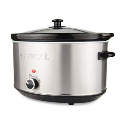 8.5 Qt. Stainless Steel Slow Cooker with Temperature Settings