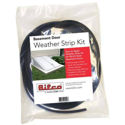 1 in. x 1 in. Black Weather Strip Kit for Cellar Door