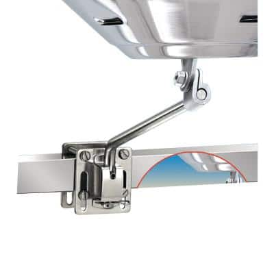 Side (Bulkhead) or Square/Flat Rail Mount for Any Marine Kettle Grill
