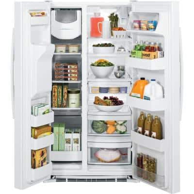 25.3 cu. ft. Side by Side Refrigerator in White