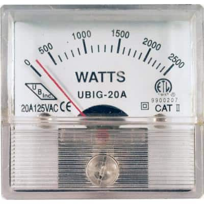 Replacement 2500W Wattage Meter for 5000W EGS Units