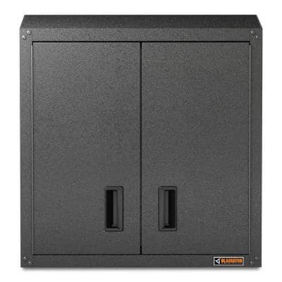 Ready to Assemble 28 in. H x 28 in. W x 12 in. D Steel Garage Wall Cabinet in Hammered Granite