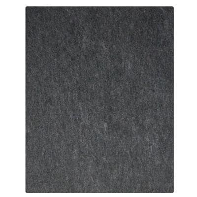 7 ft. 4 in. x 17 ft. Charcoal Grey Commercial Polyester Garage Flooring