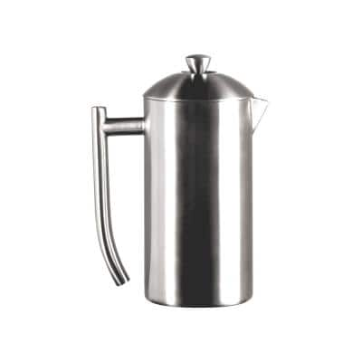 2.5-Cup Brushed Finish Stainless Steel French Press Coffee Maker 0143