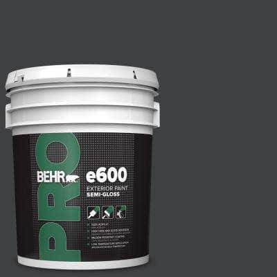 5 gal. #HDC-MD-04 Totally Black Semi-Gloss Exterior Paint