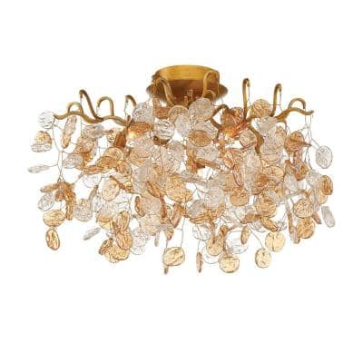 Campobasso Collection 5-Light Gold Semi Flush Mount