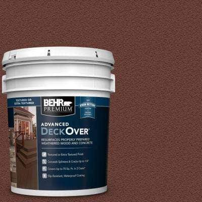 5 gal. #SC-118 Terra Cotta Textured Solid Color Exterior Wood and Concrete Coating