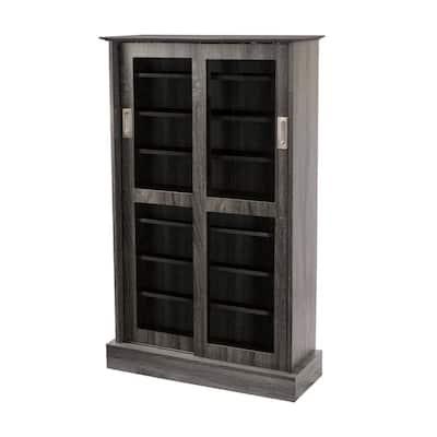 Driffield Gray Adjustable Media Cabinet