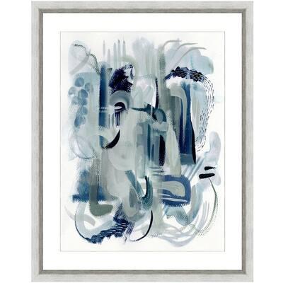 """""""Dark waters I"""" Framed Archival Paper Wall Art (20 in. x 24 in. in full size)"""